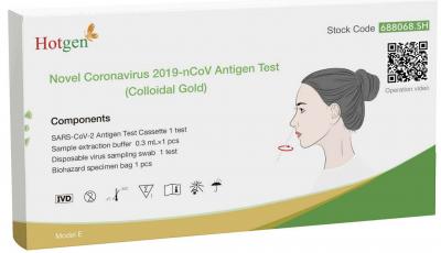 Hotgen COVID-19 Selbst-Antigen-Schnelltest: Testen Sie sich selbst zu Hause!